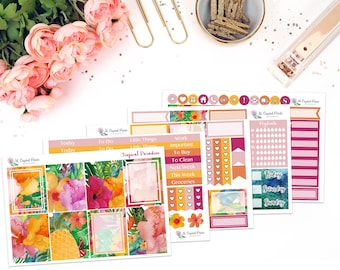 Tropical Paradise Vertical Planner Kit