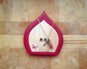 Fairy Door -  Very Berry Fairy |  Handmade Wood Fairy Door | Tooth Fairy Gift | Unique Gift | Kids Room |  Wall Décor