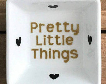 Pretty Little Things Ring Dish- Engagement Ring Dish - Wedding Ring Dish - Jewelry Dish- Ring Holder- Jewelry Holder! Your choice of colors!