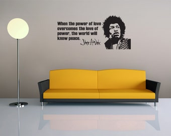 Jimi Hendrix Quote - Vinyl Wall Decal - Music - Motivation