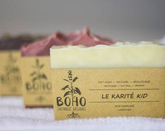 Trio of soaps to choose / natural, organic, artisan SOAP, baby sensitive skin, woman, biodegradable, wave of competition, dry skin