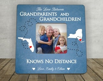 Gift for Grandparents, Christmas Gift for Grandparents,Personalized Picture Frame,The love between Grandparents Grandchildren,Long Distance