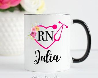 Nurse Mug, RN Mug, Nurse Gifts, Personalized Mug, Gifts for Nurse, Nurse Coffee Mug, Nurse Appreciation, Registered Nurse Mug, Nurse Cup