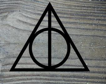 Harry potter decal, harry potter laptop sticker, Car decal, Bottle sticker, harry potter deathly Hollows, snape, Harry Potter sticker, vinyl