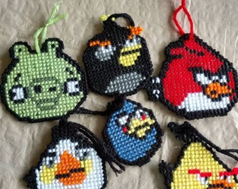Angry bird magnets & ornaments