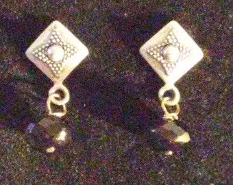 Black Crystal Deco Earrings