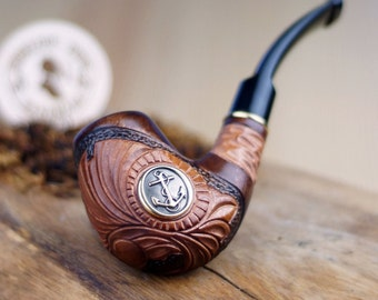 Smoking Pipe -Briar pipe -Wooden Pipe -Tobacciana pipe - Exclusive Wood Pipes -Smoking bowl -Tobacco bowl - Wood carved smoking pipe