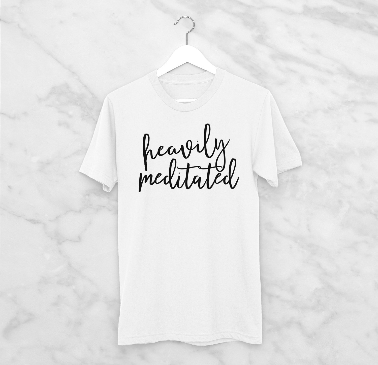 Heavily Meditated Vegan Tshirt Vegan Apparel