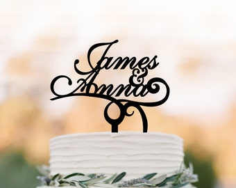 Personalized Wedding Cake topper, customized cake topper for wedding, Bride and Groom name wedding cake topper funny