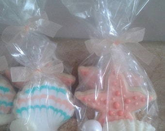 Starfish/shell cookie favors