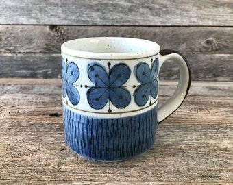 Vintage Stoneware Mug, Stoneware Coffee Mug