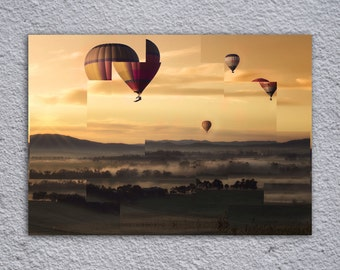 Hot Air Balloon Art Framed Poster