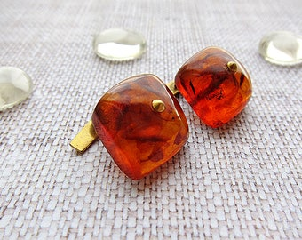 Grandfather Gift for grandpa Vintage cuff links Amber cuff link Vintage Amber cufflink Mens cuff links Vintage jewellery Baltic amber cuff