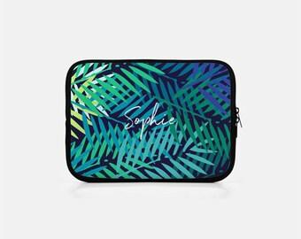 Custom Tablet Sleeve, Monogram iPad Sleeve, Tropical Tablet Sleeve, Palm Leaf iPad Sleeve, Tropical iPad mini Sleeve, Tropical Kindle Sleeve