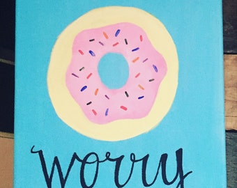 donut worry canvas