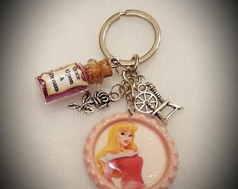 Disney Sleeping Beauty Inspired Keychain
