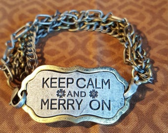 KEEP CALM BRACELET - Keep Calm & Merry On