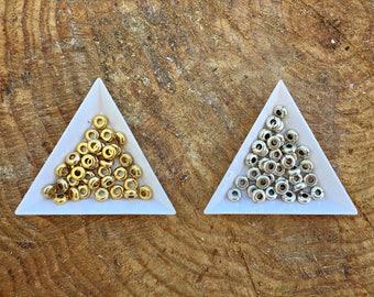 Smooth Zamak Ring Beads, Zamak Beads for DIY Jewelry, Silver or Gold, 10 pcs | 0,8 cm X 0,8 cms / 0,31'' X 0,31'' | Inside: 3 mm / 0,11'' |