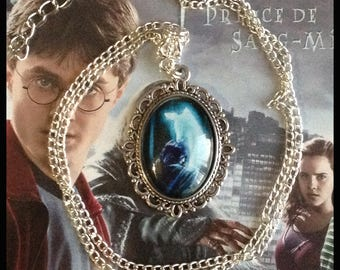 """Harry Potter """"Severus Snape and Lily patronus"""" themed necklace"""