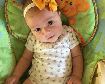 Sunflower Baby Headband or Hair Clip