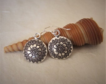 Sterling Silver earrings. Ethnic earrings. 925 Silver earrings. Silver jewelry. Ethnic jewelry. Ethnic earrings.
