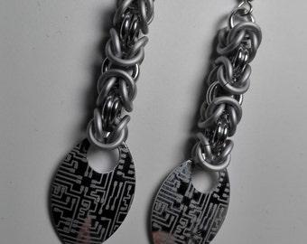 Earrings White/Silver