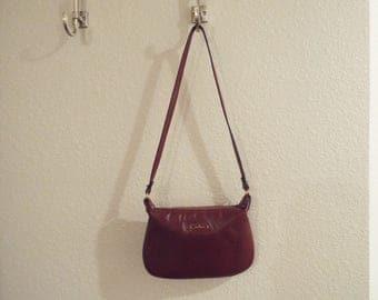 Vintage 1980s Etienne Aigner burgundy handbag