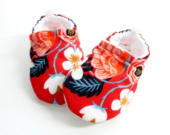 Baby girl shoes, baby shoes girl, soft sole, baby boots, toddler shoes, baby girl shoes, baby moccasins, rifle paper co fleur, baby girl