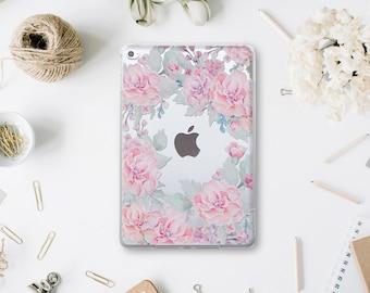 Garden Case New iPad 9.7 Clear Cover iPad Pro 12.9 Floral Case iPad Air 2 Roses Case Mini 4 Flowers Cover iPad Air Case iPad Pro 9.7 WA029