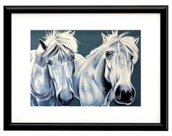 "Icelandic Horses, Fine Art Print, 8""x10"""