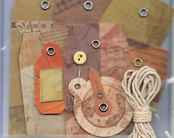 7 Assorted Journal Tags Forever In Time Scrapbook Embellishments Cardmaking Crafts