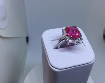 Silver Ruby Ring ( Free Shipping )