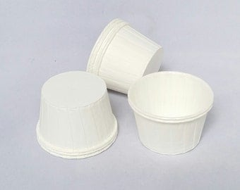 High Quality Pleated White Baking Cups Cupcake Cases Muffin Cups