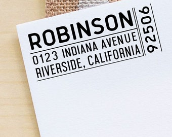 Custom Family Address Stamp Self Inking Address Stamp, Custom Rubber Stamp, Personalized Rubber Stamp, Custom Stamp Stationary Gift NHS21A