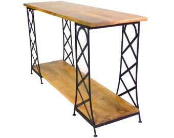 Items similar to 4 ft industrial console table with pipe for 5 foot console table