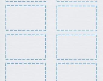 Half Box Dashed Border | 310 | Planner Sticker | Kikki-K | Happy Planner | Erin Condren