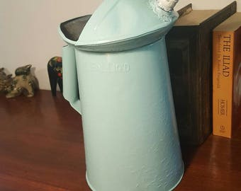 Old one gallon oil pitcher recycled from the crude life
