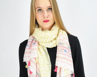 Lemon Yellow Scarf / Spring Scarf / Summer Scarf / Autumn Scarf / Womens Scarves / Gift Ideas / Gift For her / Gift For Mother / Accessories