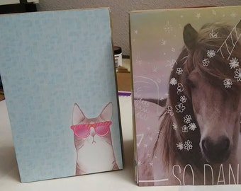2 Paperbag Albums The Horse Album The Cat With Glasses Album