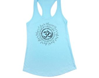 OM Tank Top Women, Free shipping, Yoga, mandala, sanskrit, aum, spiritual, distressed, meditation, mindfulness, vinyasa, kundalini, hindu