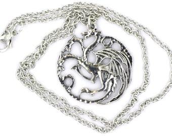 Targaryen Dragon Necklace or Keychain Game of Thrones
