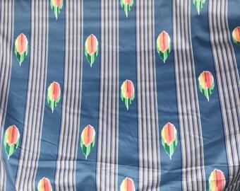 Vintage 1980's  Jay Yang Tulip Stripe Fabric