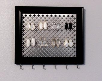 Jewelry organizer- Black Wall Jewelry Holder