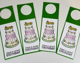 Happy Birthday Wine Tags - Birthday Gift Tags - Wine Gift Tags Birthday