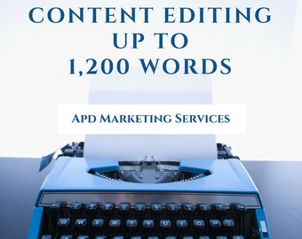 Content Editing Up To 1,200 Words