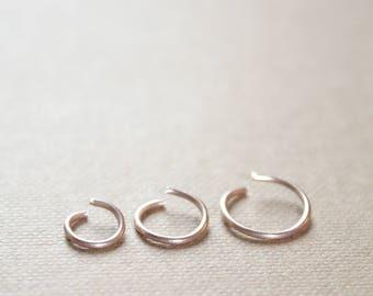 Thin Rose Gold Nose Ring 22K Rose gold Nose Hoop 20g Septum Ring 6mm Small Rose Gold Hoop Earrings 22g Rose Gold Cartilage Hoop 18g DiAndDe