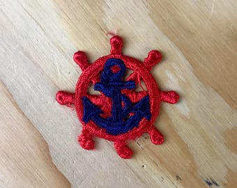 PIRATE PATCH - Vintage Handmade & Hand-sewn SAILOR Embroidered Patch - Great Gift!