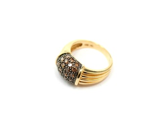 14k Yellow Gold LeVian Chocolate Diamond Ring