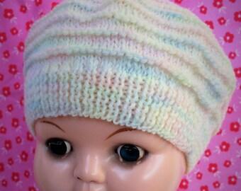 Handknitted baby hat