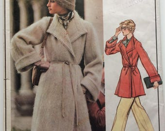 Vogue Paris Original sewing pattern 1023 - Christian Dior - Misses' coat - vintage 1970's - size 16